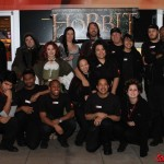 The cosplayers with the staff of the AMC Bay Street 16 Theaters