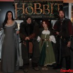 Roxanna Meta as Arwen, Knave Murdock as the Dwarf, Mab as the Hobbit lady, and Lieven Leroy as Aragorn.